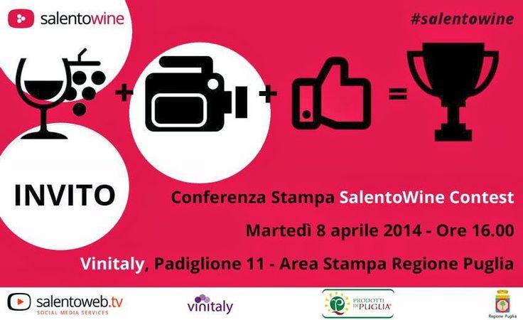 Da ambasciatrice di #SalentoWine vi invito a seguire la presentazione oggi alle 16 al #Vinitaly2014!
