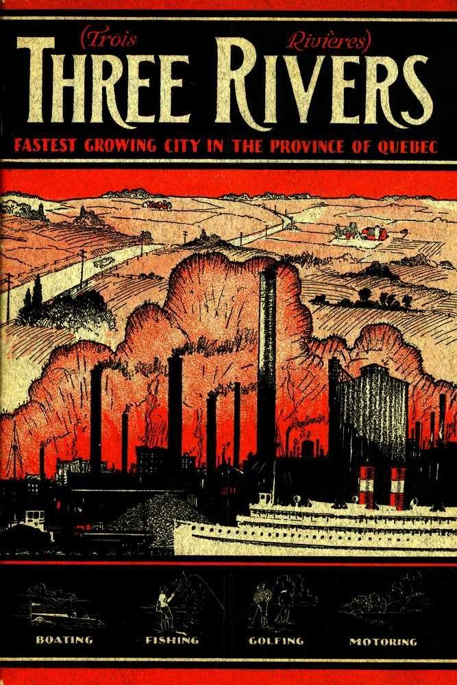 Document sur trois-rivieres datant de 1928 en anglais. Trois Rivieres, Quebec.
