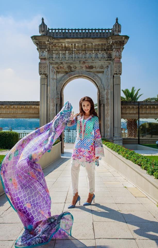 Farah Talib Aziz Midsummer Lawn Collection | LSM Eid Dresses 2015 http://clothingpk.blogspot.com/2015/08/farah-talib-aziz-midsummer-lawn-collection-2015.html