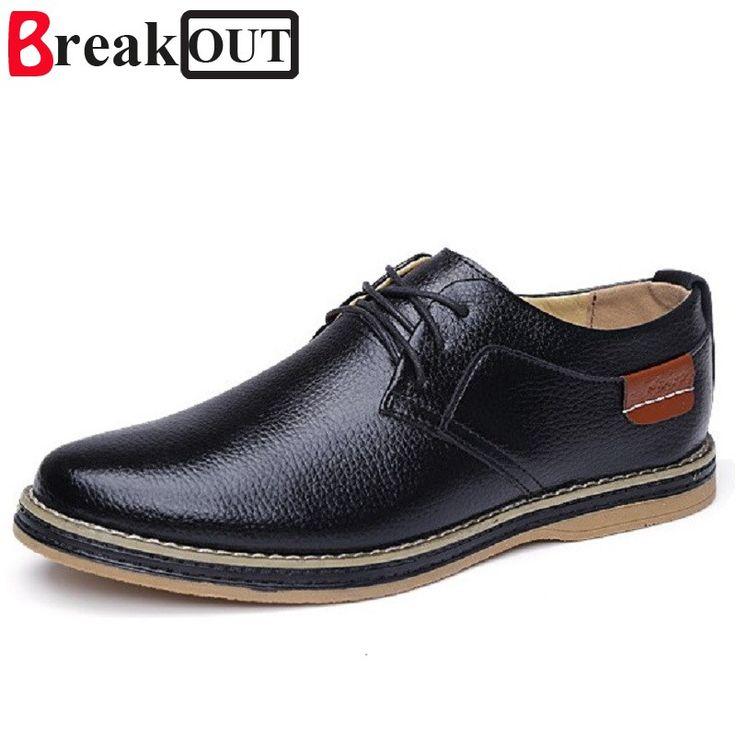 Break Out New Men Oxfords for Men Dress Shoes Business Leather Breathable Spring Summer Men Shoes 3 Colors