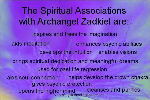 The Spiritual Associations with  Archangel Zadkiel