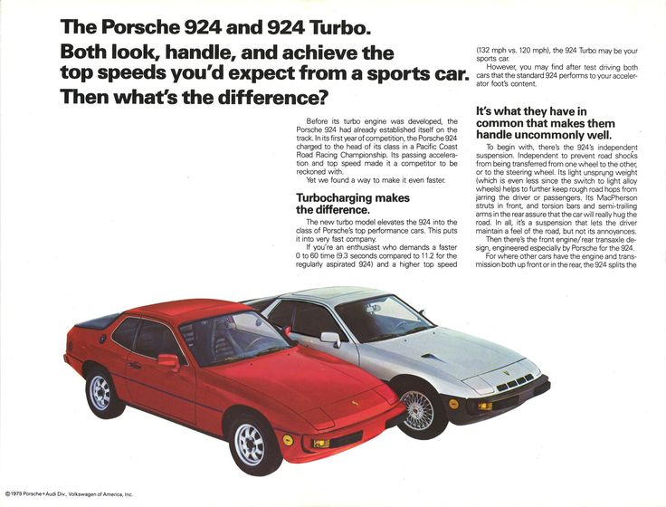 Boost Made It Better: 1979 Porsche 924 Turbo brochure | Hemmings Daily