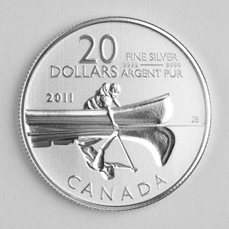 alien on the canadian coin