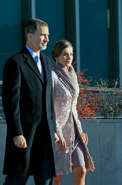 King Felipe of Spain and Queen Letizia of Spain depart to Portugal for a official visit on November 28, 2016 in Madrid, Spain