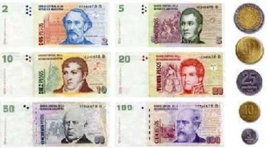 "This is the Argentina currency. They call these the ""Argentine Peso"". 1 U.S. Dollar is 5.6916 Argentine Peso(s)"