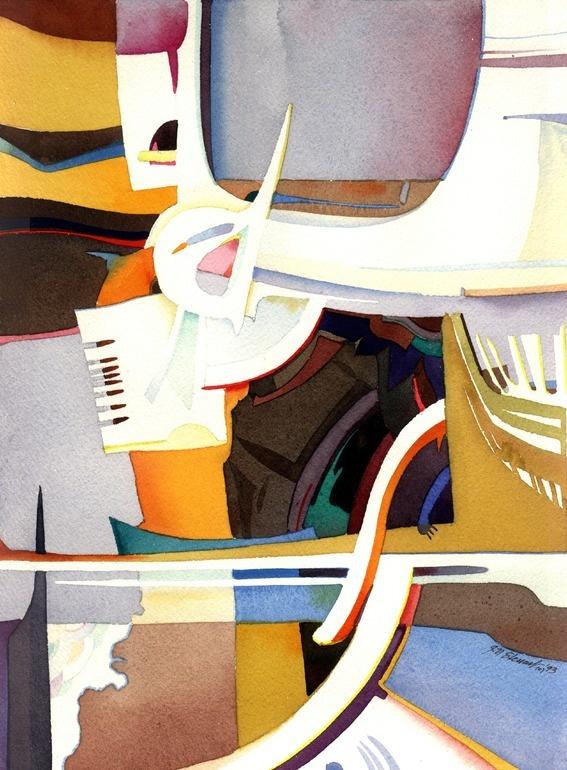 """Saatchi Online Artist: John Norman Stewart; Watercolor, 1992, Painting """"Mechanica"""""""