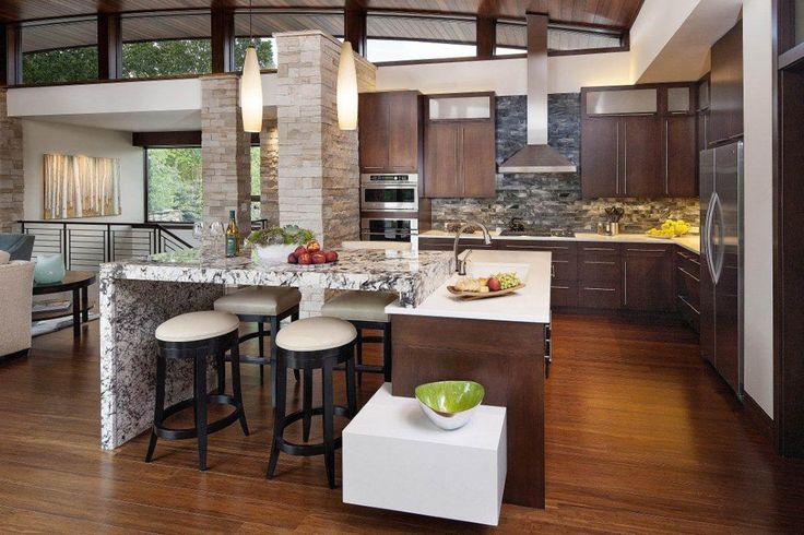 Beautiful And Sleek Modern Open Kitchen Open Kitchen