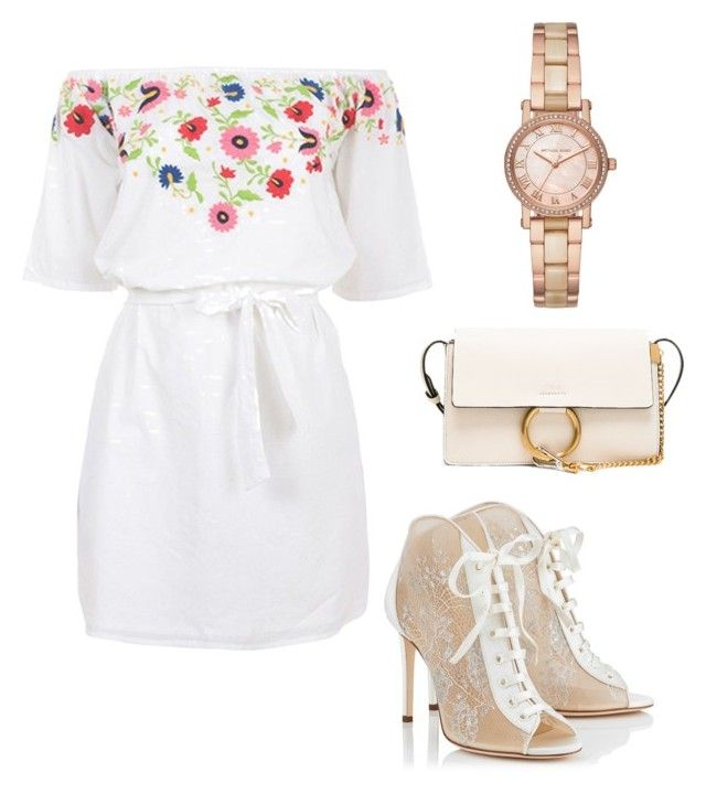 """""""Spring simple"""" by saryr on Polyvore featuring mode, Pampelone, Jimmy Choo, Chloé et Michael Kors"""