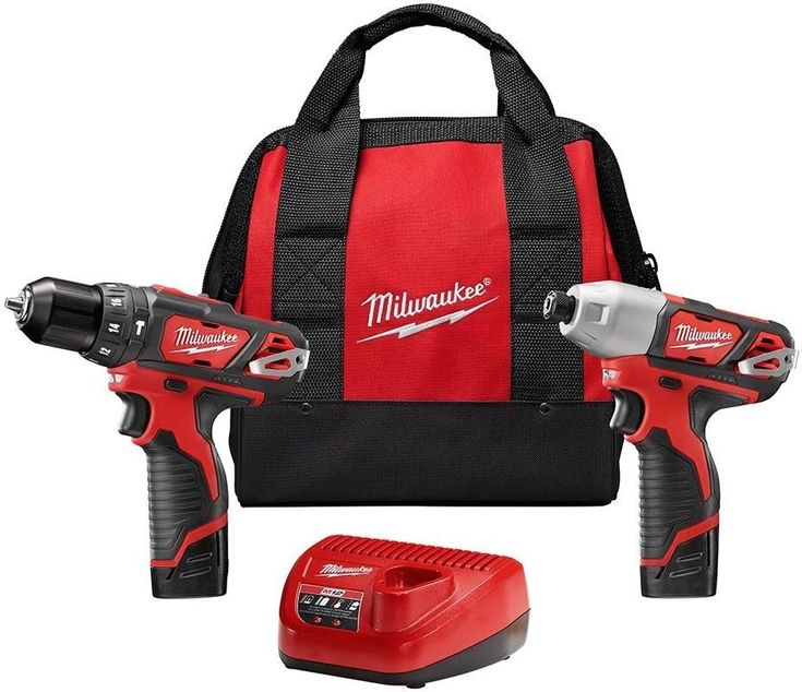 Milwaukee M12 12-Volt Lithium-Ion Cordless Hammer Drill/Impact Driver Combo Kit #Milwaukee