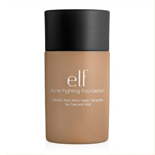 This is THE foundation for acne prone skin! Best news is it's only 6 bucks!  [ e.l.f. Acne Fighting Foundation in Sand ]