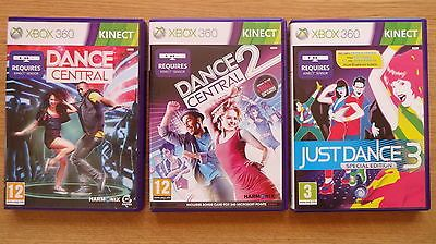 #Dance #central + #dance #central 2 + just #dance 3 , kinect, xbox 360,  View more on the LINK: 	http://www.zeppy.io/product/gb/2/131879412376/