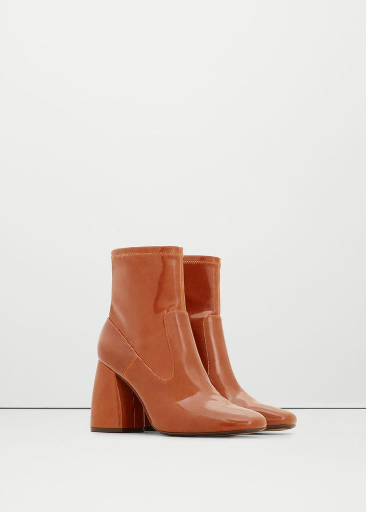 Patent ankle boots - Shoes for Women | MANGO USA