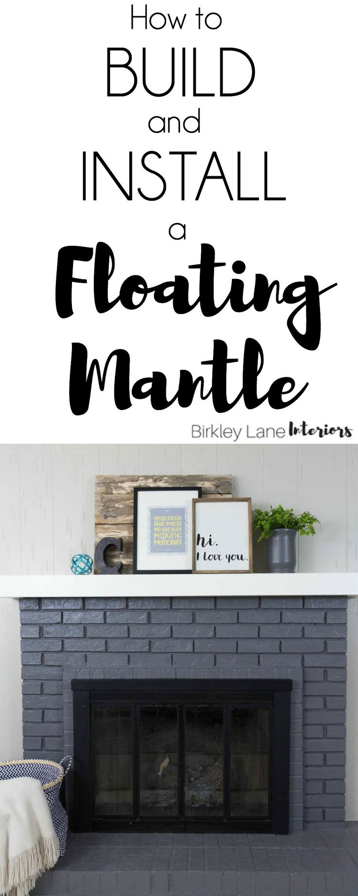 How to build a floating mantle, floating mantle, floating mantle fireplace, floating mantle DIY, how to install floating mantle, mantle pice ideas, floating mantle piece