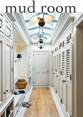 skylight in mudroom