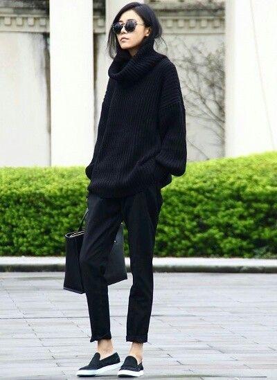 Le parfait total look noir
