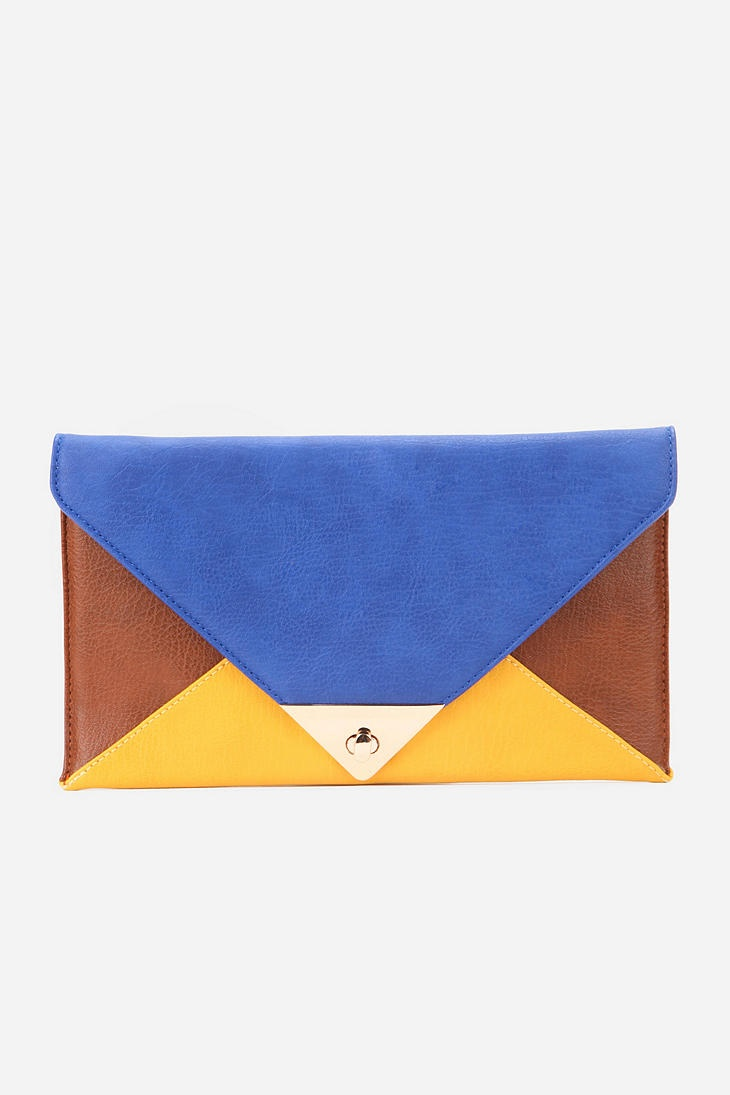UO Colorblock Envelope Clutch