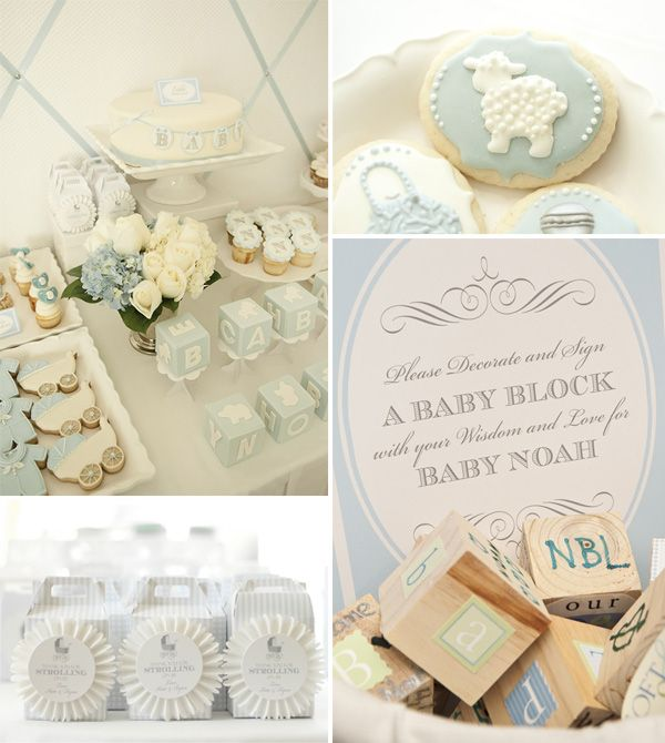blue baby boy shower ideas