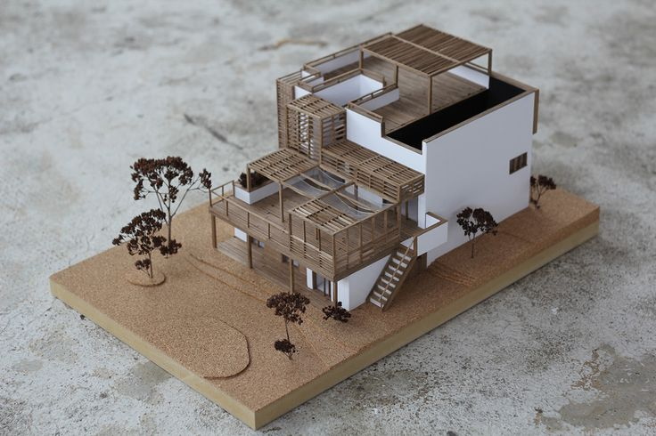 Wooden architecture model on Behance I will never understand from where people get that much patience. Incledible
