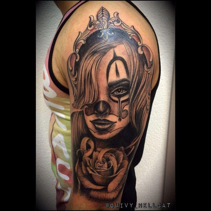 Tattoo by Guivy  #artforsinners #geneve  #chola #chicano #art  #tatouage