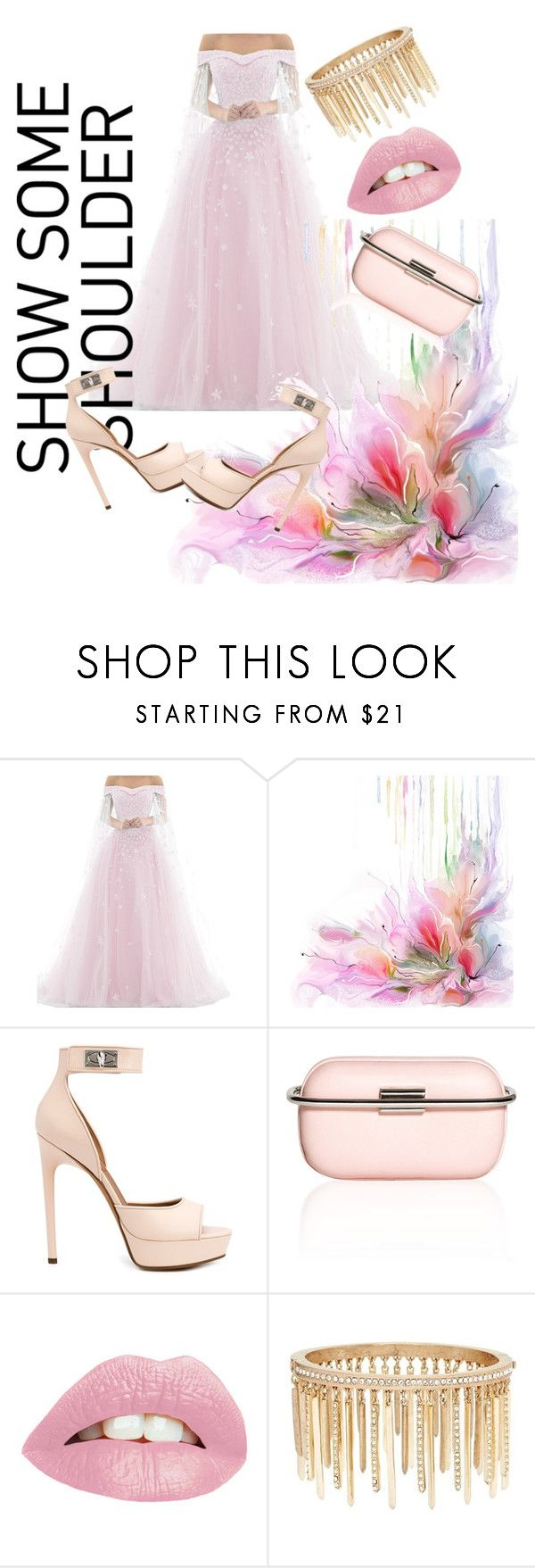"""""""pinky ponky"""" by ishitayadav ❤ liked on Polyvore featuring Givenchy, Corto Moltedo and Jenny Packham"""