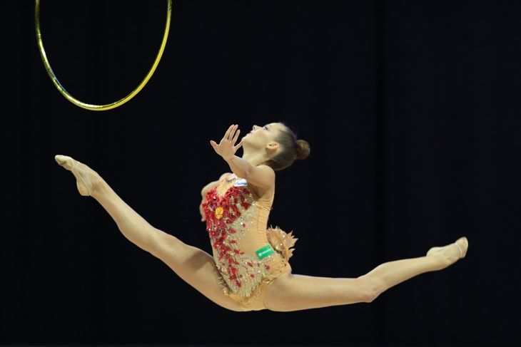 Ekaterina Selezneva (Russia) won gold in hoop finals at World Cup (Berlin) 2017