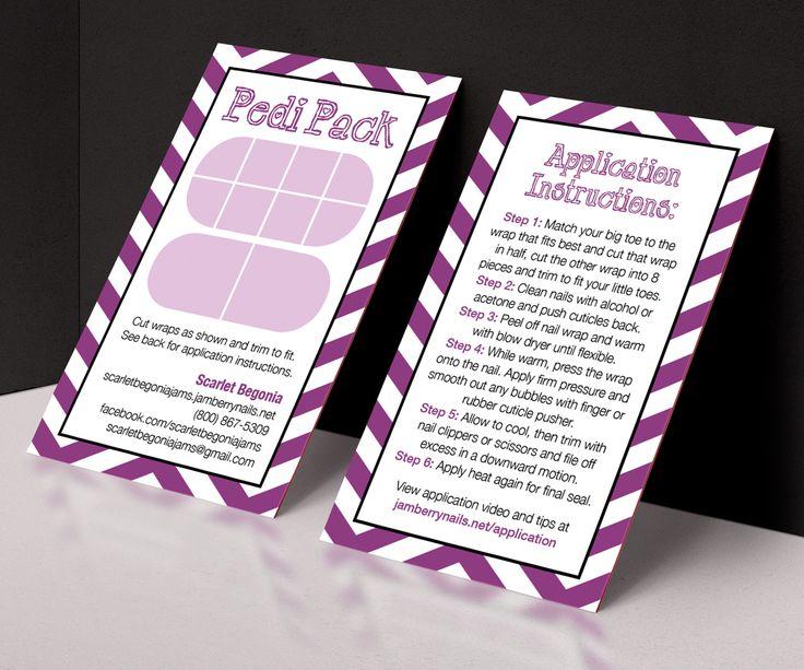 Printable customizable jamberry pedi pack card jamberry for Jamberry sample card template