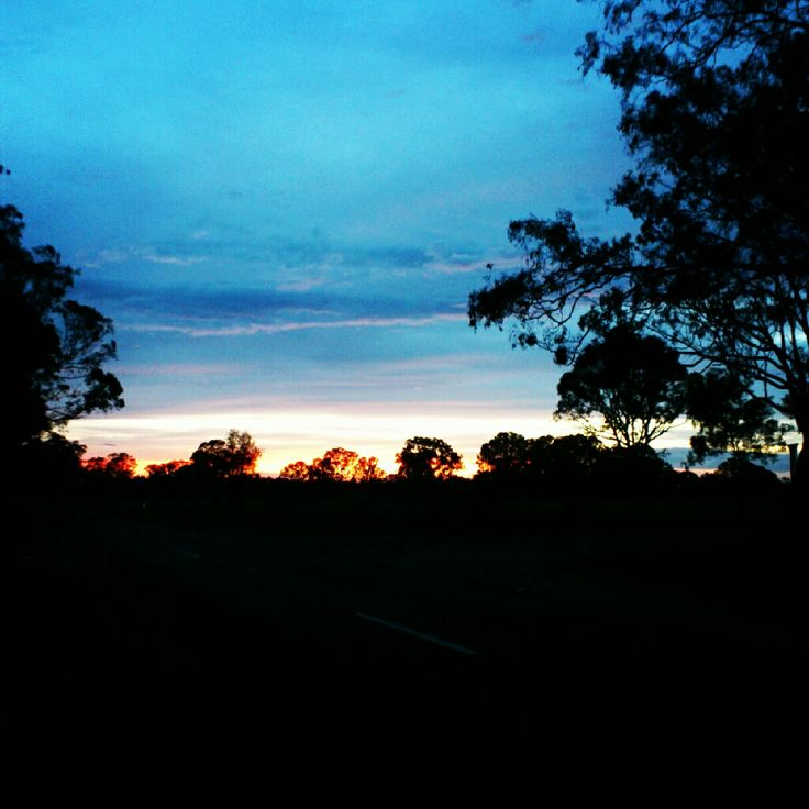 Sunset in Briagolong, Victoria.