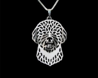 Lagotto Romagnolo  gold pendant and necklace.