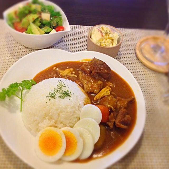 圧力鍋で簡単牛すじ煮込みカレー☻お肉がトロトロに柔らかく出来ました♡ - 25件のもぐもぐ - 牛すじカレー by miumiu