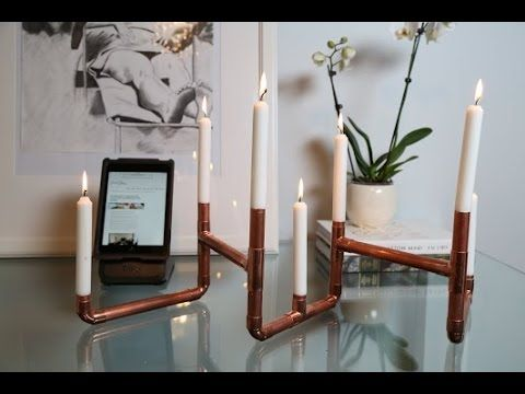 DIY Copper Piping Candle Holder!  This is such a fun project that you can customize into any shape!