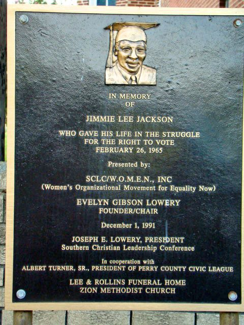 Jimmie Lee Jackson was a deacon of the St. James Baptist Church in Marion, Alabama, ordained in the summer of 1964. He was beaten and shot by state troopers as he tried to protect his grandfather and mother from a trooper attack on civil rights marchers. His death lead to the Selma-Montgomery march and the eventual...
