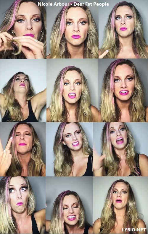 Nicole Arbour Dear Fat People PROVE HER WRONG!! Nicole is a disgrace why in the world does she think it's right to talk about people like that and saying that they shouldn't eat as well is just horrible
