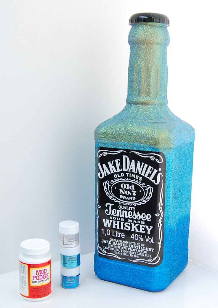 We bought a Jack Daniels plastic money box bottle and gave ...