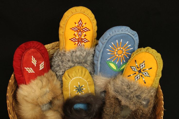 Keep your feet warm this winter!! #Moccasins #Kitigan #Native #NDN
