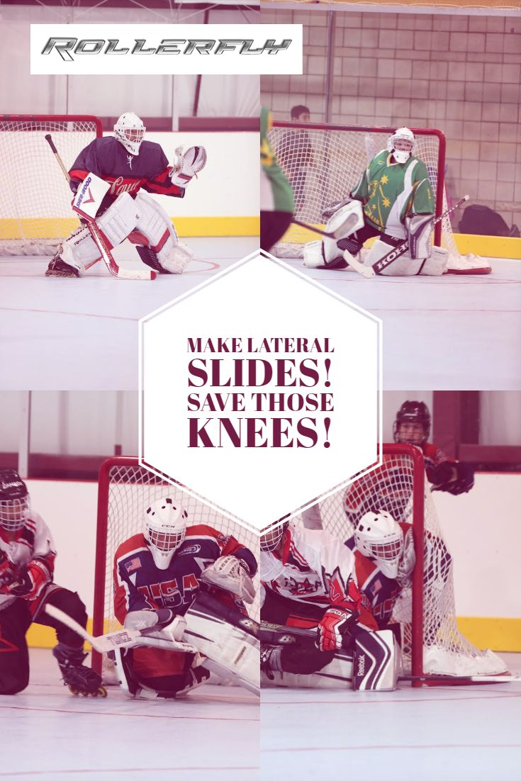 Amazing Way To Save Your Hips And Knees And Still Make A Lateral Slide Rollerfly Pads Attach Easily To Your Goalie Pads For Inline Go Goalie Pads Inline Sliders