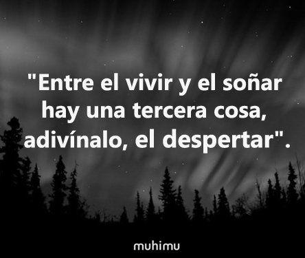 """""""Entre el vivir y el soñar hay una tercera cosa, adivínalo, el despertar"""". #AntonioMachado #MásPoesía =)"""