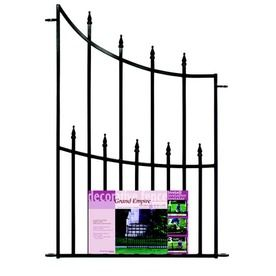 No Dig Black Powder-Coated Steel Fence Panel (Common: 36-in x 27-in; Actual: 36.4-in x 26.6-in)