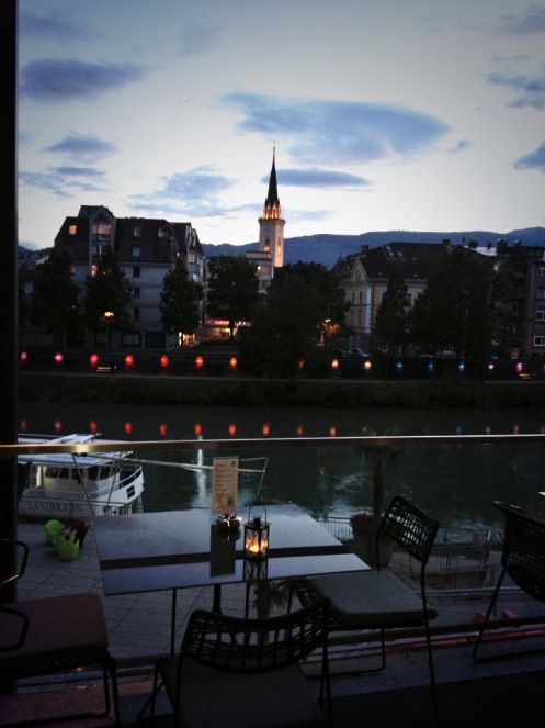 A drink with a view at the Holiday Inn Villach !