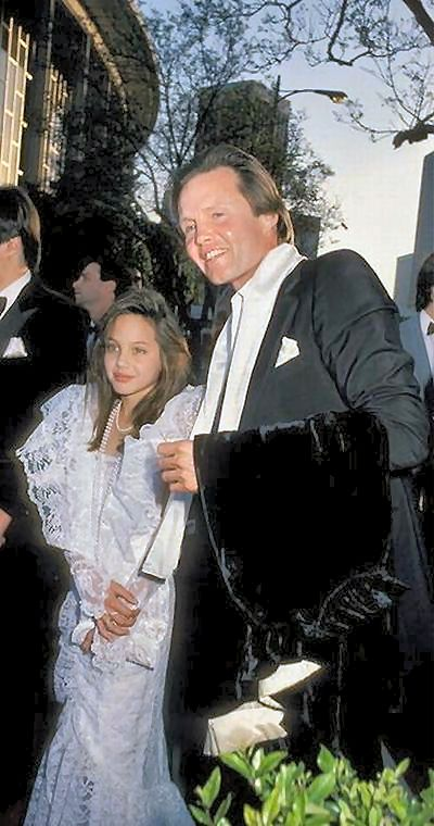 Angelina Jolie and her father - John Voigt - in 1979.