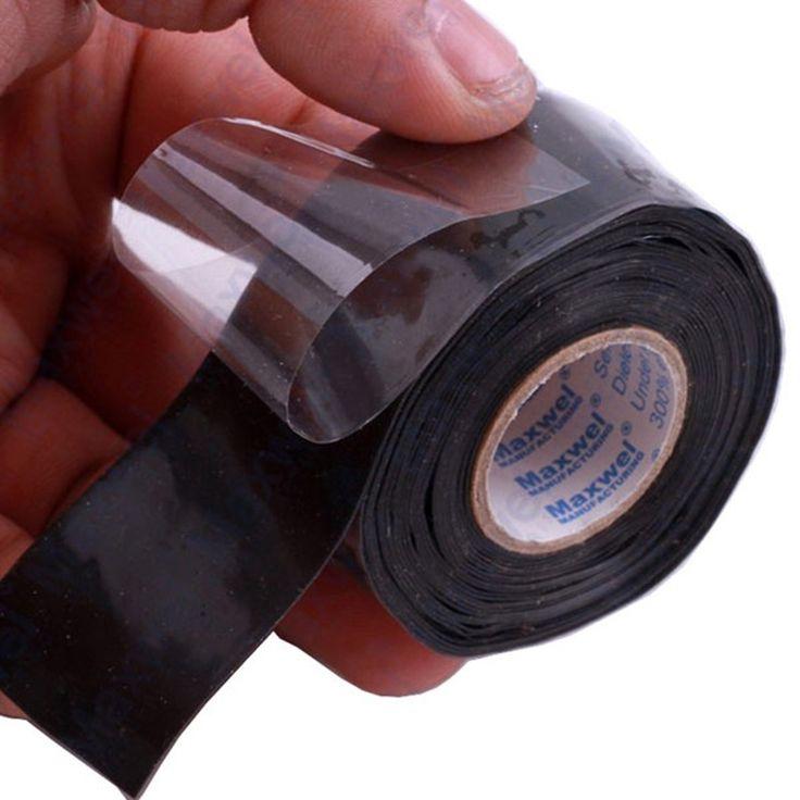 New Universal Waterproof Black Silicone Repair Tape Bonding Home Water Pipe Repair Tape Tools Strong Power   Repair Quickly