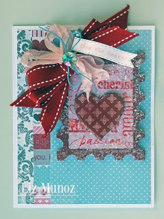 Liz's Paper Loft: MCT December Release Blog Hop ~ From the Heart Card-postage die and scallop heart die