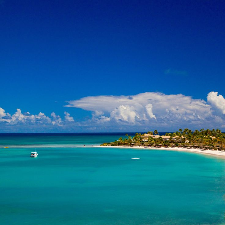 13 Outrageously Romantic Beach Getaways for Valentine's Day: Jumby Bay, A Rosewood Resort, Antigua. Coastalliving.com