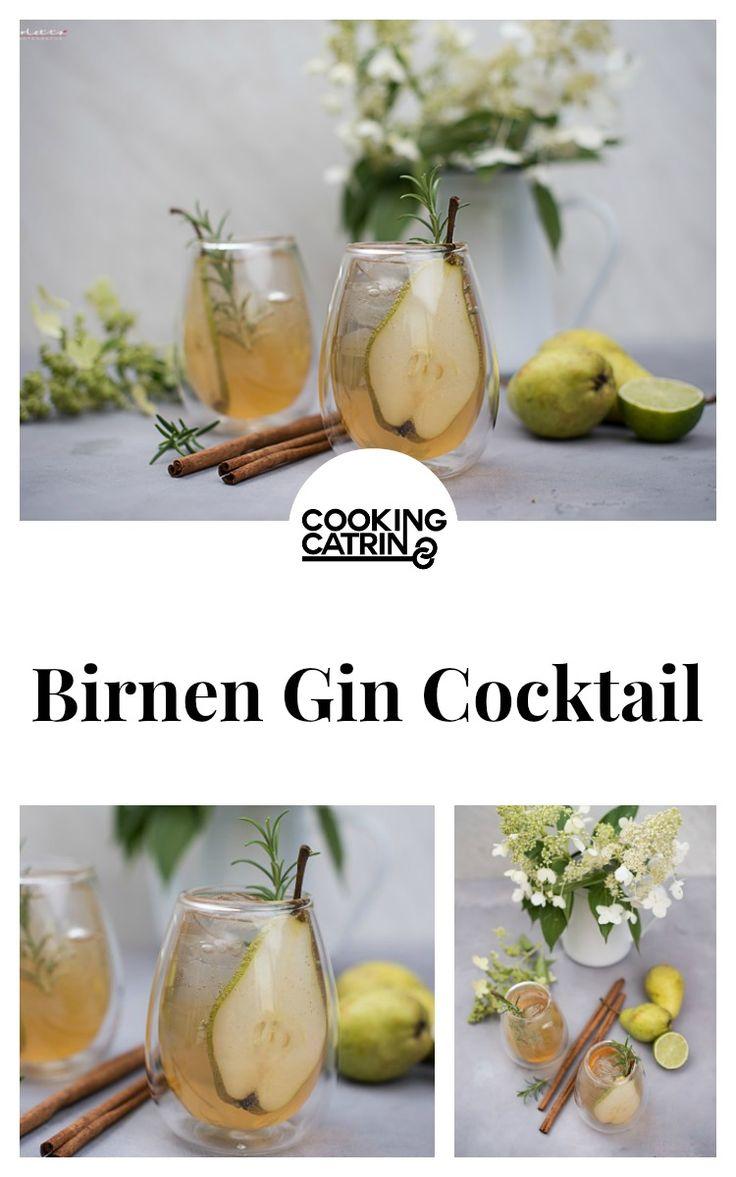 Birne, Zimt, Gin, Soda, Cocktail, Drink, Getränk, Erfrischung, cinnamon, pear, lemon, lime, limette