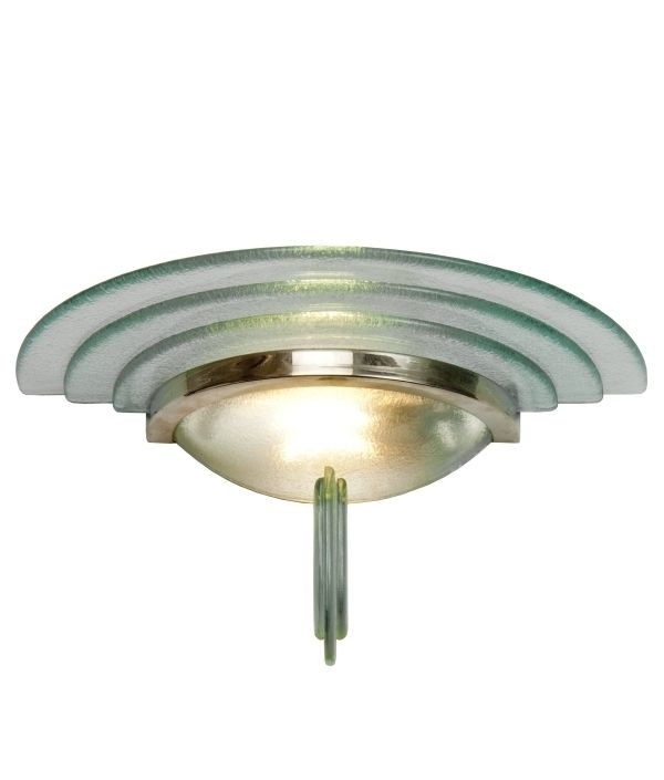 lighting styles. Layered Green Glass And Chrome Art Deco Wall Light, A Premier Product From Lighting Styles The Specialist Supplier Of Lighting, Designs Advice.
