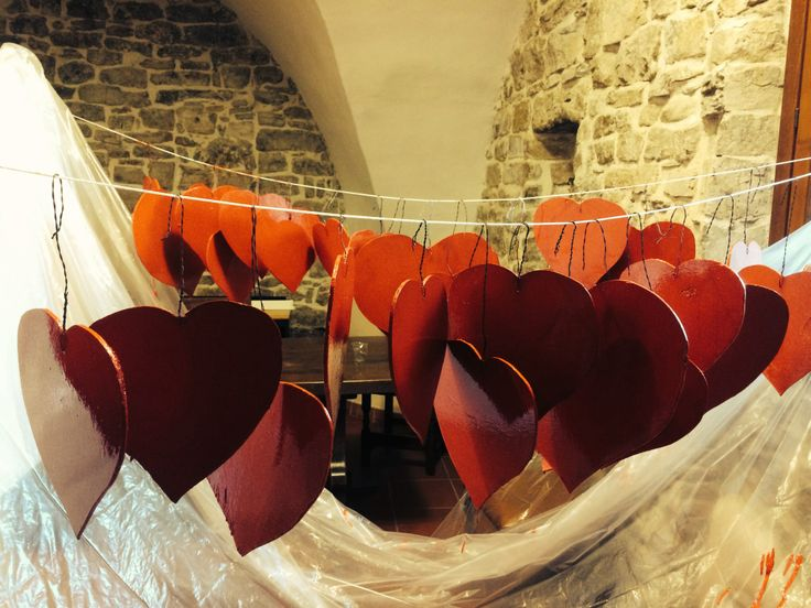 St.Valentines preparations! Surprise the one you love and book a romantic room at Apricus Locanda in Apricale.