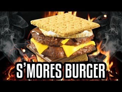 Crazy Epic Meal Time Smores Burger!! hahaha