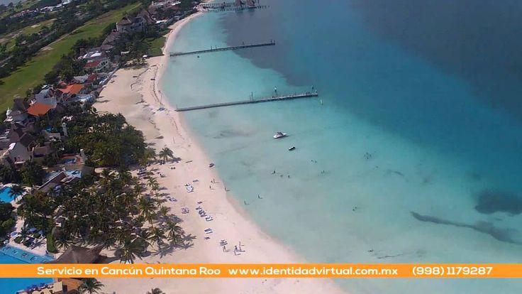 Detrás de cámaras del momento en que nos preparamos para despegar y grabar la zona hotelera de Cancún y con un copter grabar los interiores del hotel Beachscape Kin Ha Villas & Suites Cancún