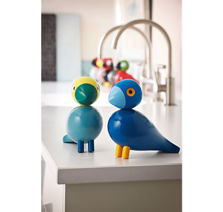 Kay is named after Mr. Bojesen himself who was a great fan of the colour blue. He was always either dressed in an immaculate blue suit, shirt and tie or a white smock. #kaybojesen #bird #kay  www.kaybojensen-denmark.dk