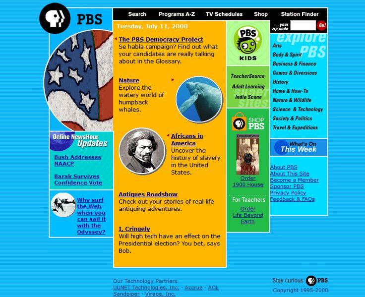 PBS.org website in 2000