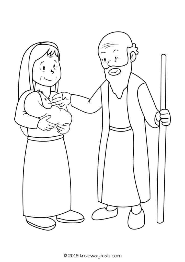 Baby John the Baptist with Elizabeth and Zachariah
